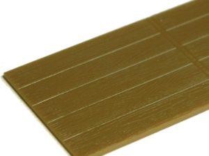 Feine Holzstruktur der Pritsche.